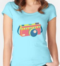 Say Cheese! - retro Camera Women's Fitted Scoop T-Shirt