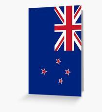 Neuseeland Flagge Grußkarte