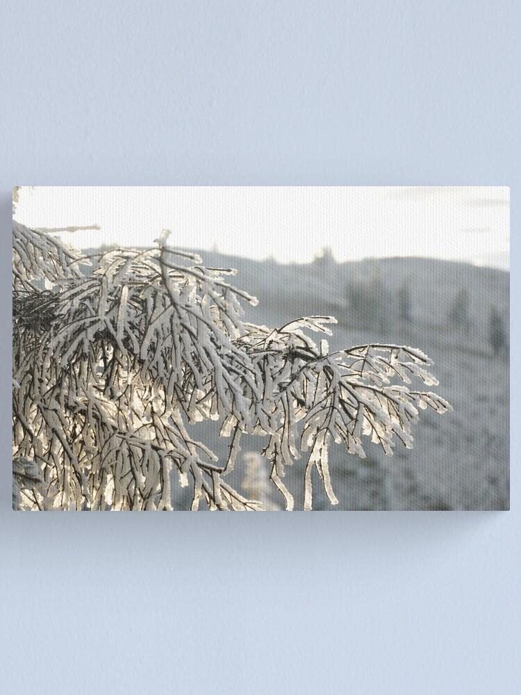 Alternate view of Snow Canvas Print