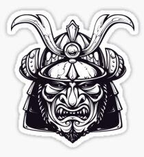 Mean Samurai mask Sticker