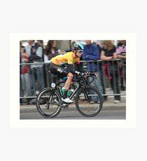Bradley Wiggins - Tour of Britain 2013 Art Print