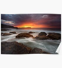 Pebble Beach Dawn Poster