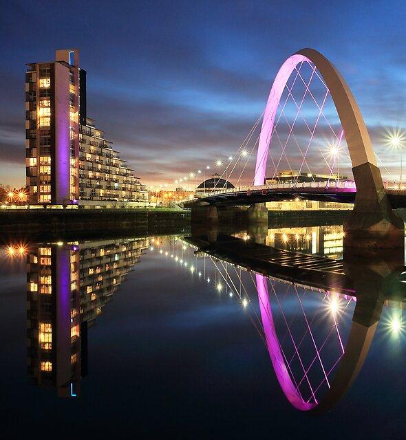 Glasgow Clyde Arc Twilight by Grant Glendinning