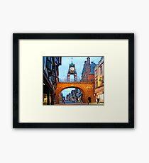 Grosvenor Clock Chester  Framed Print