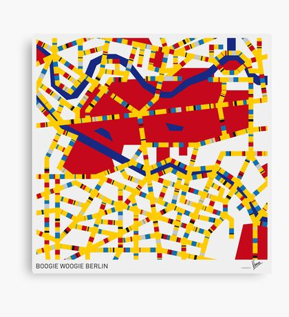 BOOGIE WOOGIE BERLIN Canvas Print