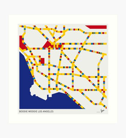 BOOGIE WOOGIE LOS ANGELES Art Print