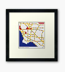 BOOGIE WOOGIE LOS ANGELES Framed Print