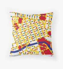 BOOGIE WOOGIE MELBOURNE Throw Pillow