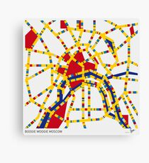 BOOGIE WOOGIE MOSCOW Canvas Print