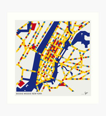 BOOGIE WOOGIE NEW YORK Art Print
