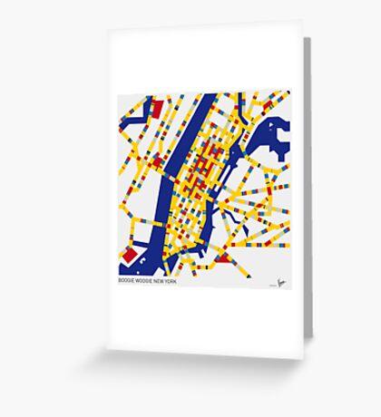BOOGIE WOOGIE NEW YORK Greeting Card