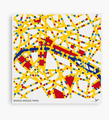 BOOGIE WOOGIE PARIS Canvas Print