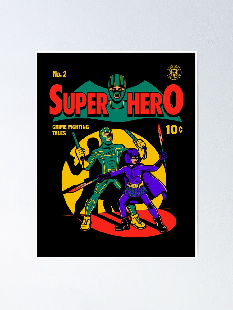 Alternate view of Superhero Comic Poster