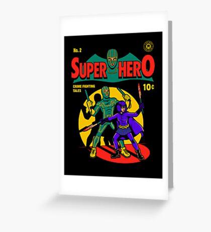 Superhero Comic Greeting Card
