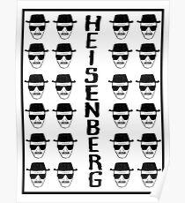 Heisenburg Multiple Faces Poster