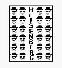 Heisenburg Multiple Faces Photographic Print