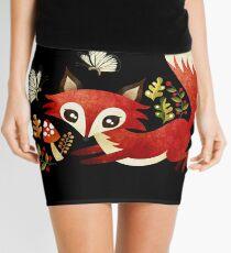 Playful Fox Mini Skirt