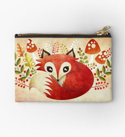 Lazy Foxy Zipper Pouch