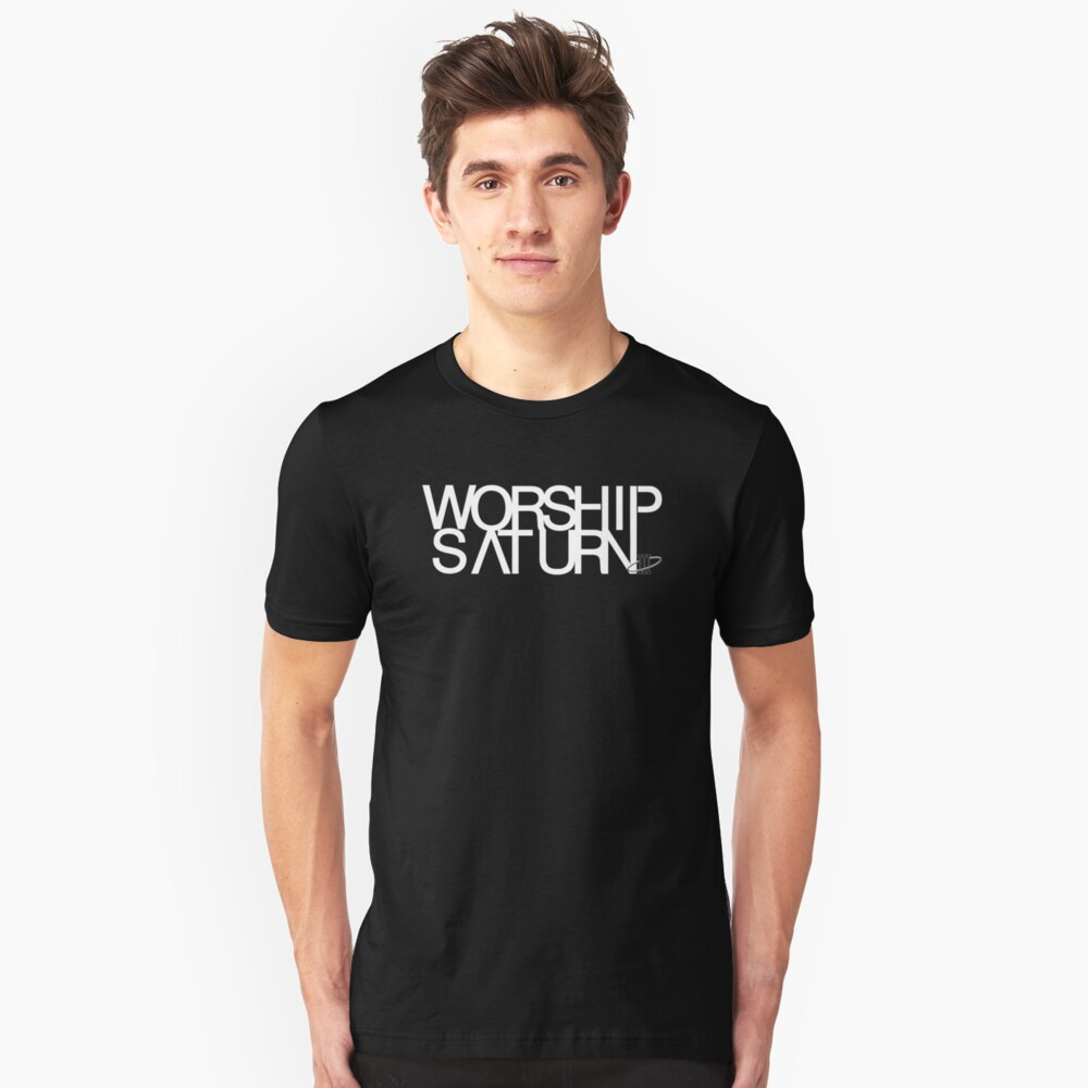 "The Saturn III - ""Worship"" Unisex T-Shirt Front"