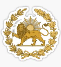 Lion & Sun Emblem of Persia (Iran) Sticker