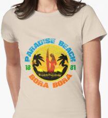 Bora Bora Surf Paradise Womens Fitted T-Shirt