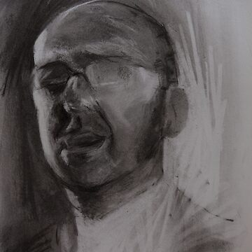 Charcoal Drawing, Head of Patrick by melanieroy