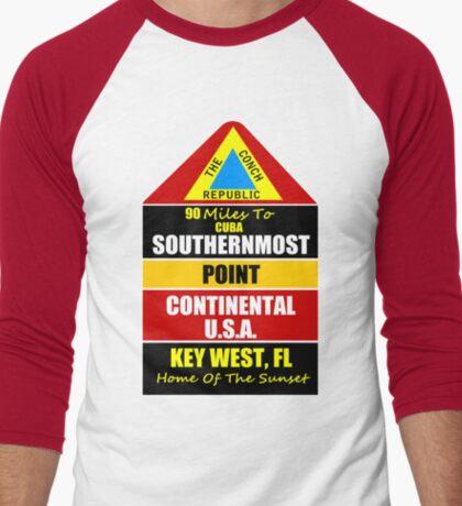 Key West Conch Republic Men's Baseball ¾ T-Shirt