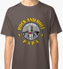 Papa And Rock Music Classic T-Shirt