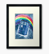 Sci Fi  inspired by The Doctor Framed Print