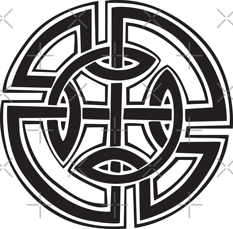 Celtic Knot Symbol Stickers By Smaragdas Redbubble