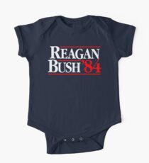 Body de manga corta para bebé Reagan / Bush '84