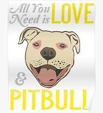 All you need is ove and a .. PITBULL ! Poster