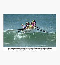 Woolamai Warriors - Vic U23 Girls Champions 2014 captioned Photographic Print