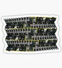 between the yellow lines Sticker