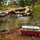 Little Red Combi ~ Riverside  by Pene Stevens