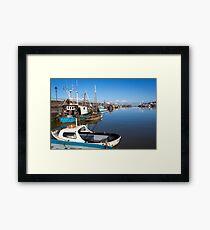 Maryport Harbour Morning Framed Print