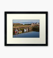 Maryport Harbour Morning from Ritson Wharf Framed Print