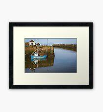 Maryport Harbour Lighthouse & Fishing Boat  Framed Print