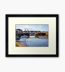 Maryport Harbour Ritson Wharf - Into The Light Framed Print