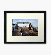 Flimby Railway Station Bridge Looking South Framed Print