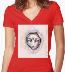 galaxy Women's Fitted V-Neck T-Shirt