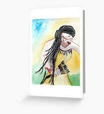 Native Regalia Dance Greeting Card