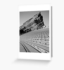 Red Rocks Amphitheater in Black and White Greeting Card