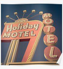 Vintage Motel Sign Square Poster