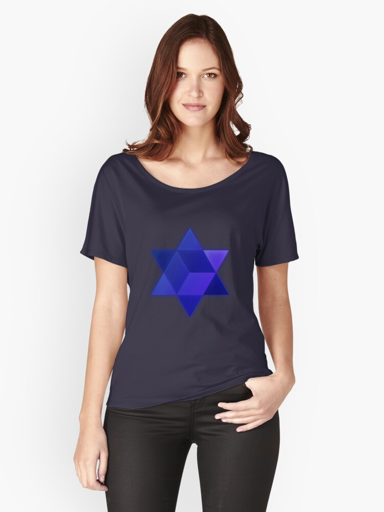 Metatron star Women's Relaxed Fit T-Shirt Front