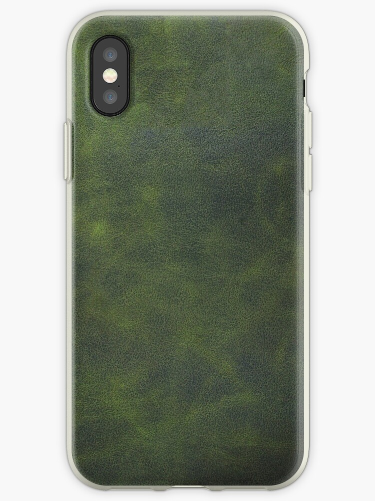 Green leather texture closeup by homydesign