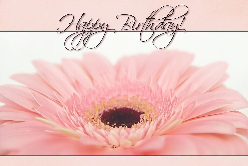 "Best Duffle Bag >> ""Happy Birthday Card - Pink Gerbera Daisy"" by Tracy Friesen   Redbubble"