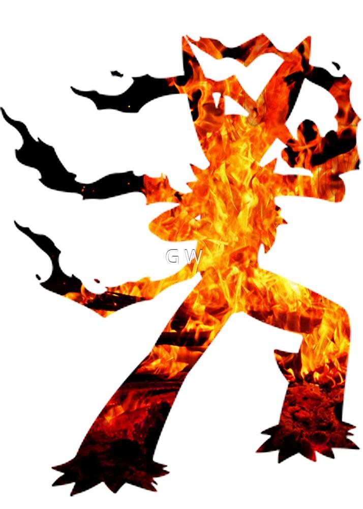 Mega Blaziken used Blast Burn by G W