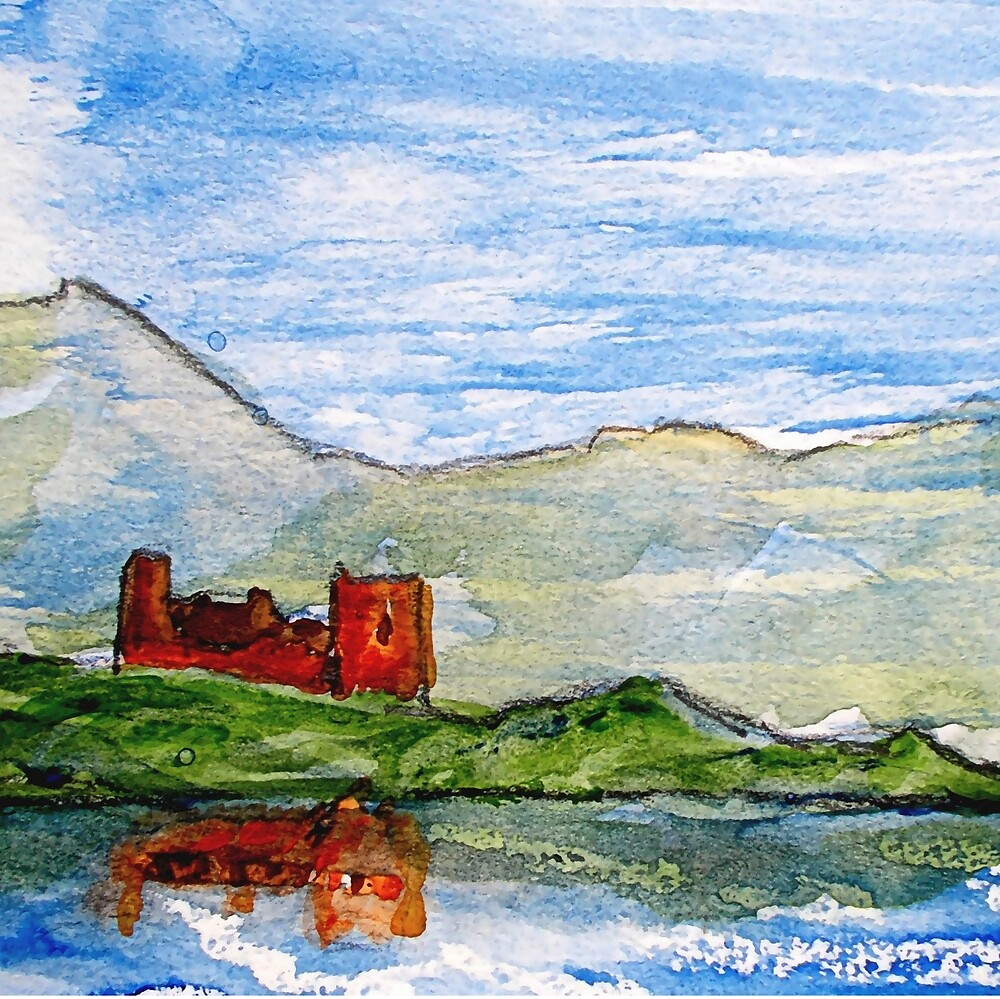 scottish castle by sea  by dale54