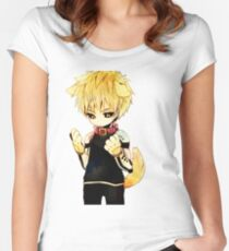 Genos One punch Man Women's Fitted Scoop T-Shirt